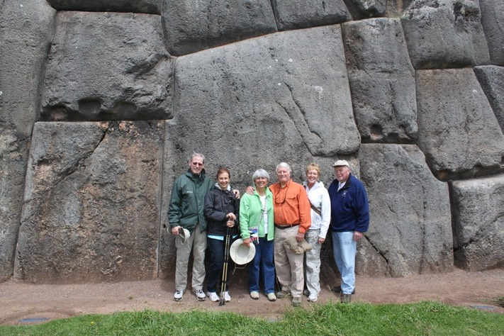 OWU friends at Sacsayhuaman (think Sexy Woman) Ruins