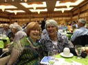 Linda Alt and I had fun last night at the Huntsville Symphony Orchestra Guild's CrescenDough Auction